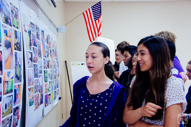 Founding d.tech 9th grade students at one of our Design Thinking sessions. Photo credit: Kerry Bitner