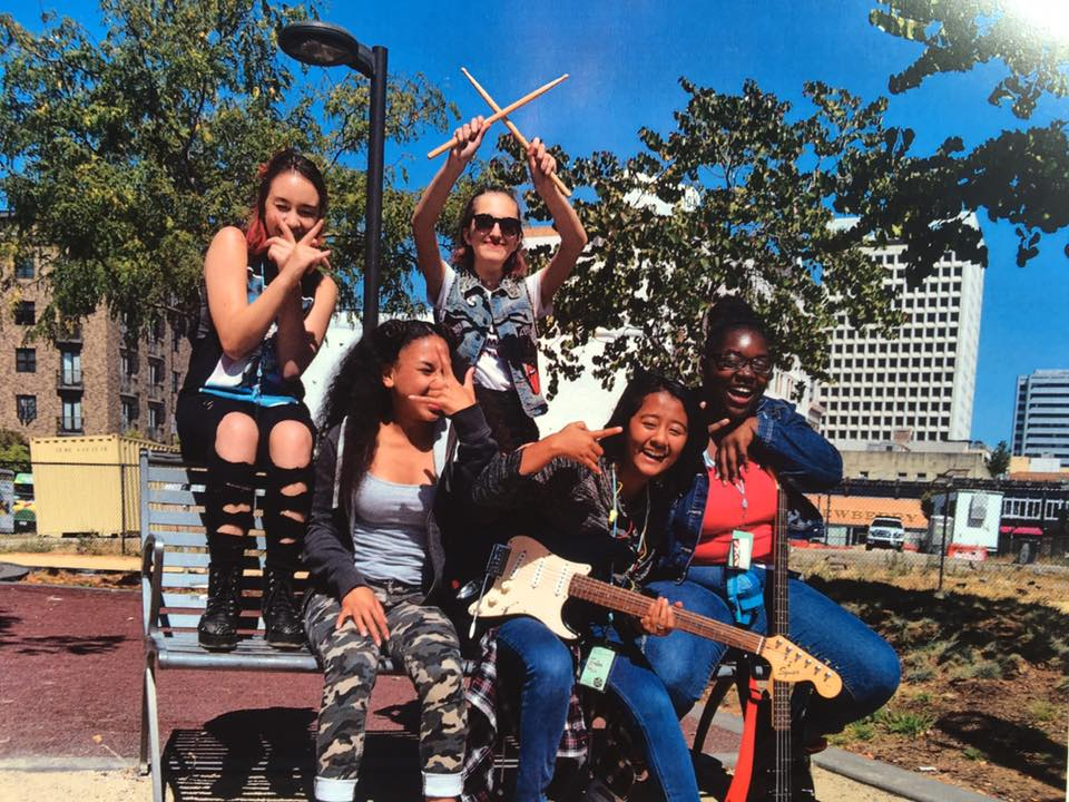 Elena, '20 I attended the Bay Area Girls Rock Camp in Oakland - we formed bands, wrote original songs and performed at a club. (Elena, far left)