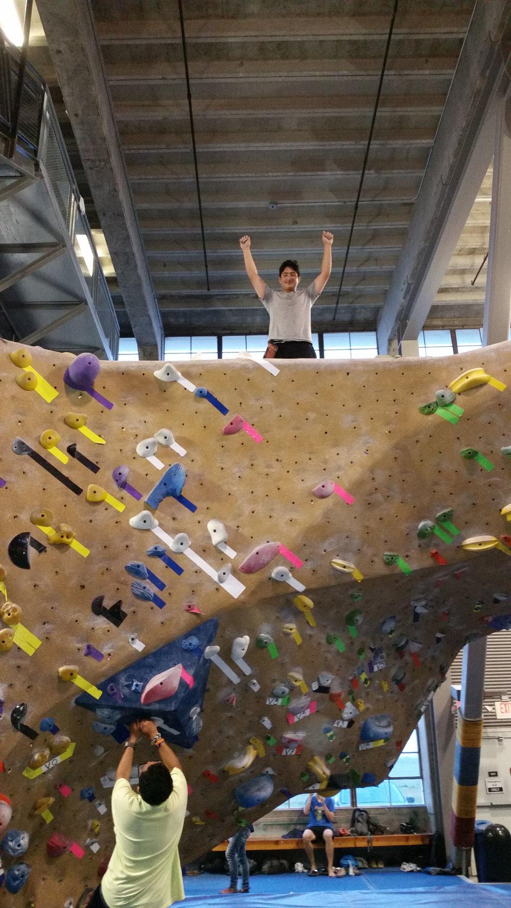 Felix, '19  Rock climbing challenge at Crissy Fields in San Francisco.