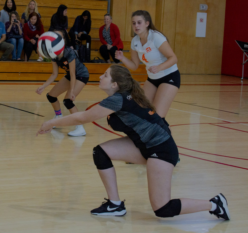 Girls Varsity volleyball is one of many competing athletics teams, along with soccer, basketball, baseball, cross country and swimming. Students have a process to found a new team.  For more on current athletics.
