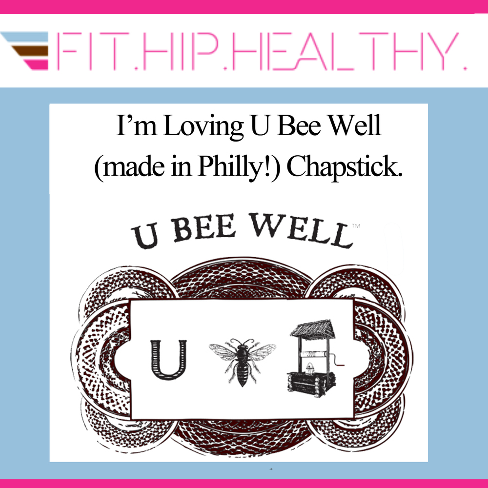 "I'm Loving Feature   ""I'm loving U Bee Well *made in Philly) Chapstick.""     ~Fit.Hip.Healthy"