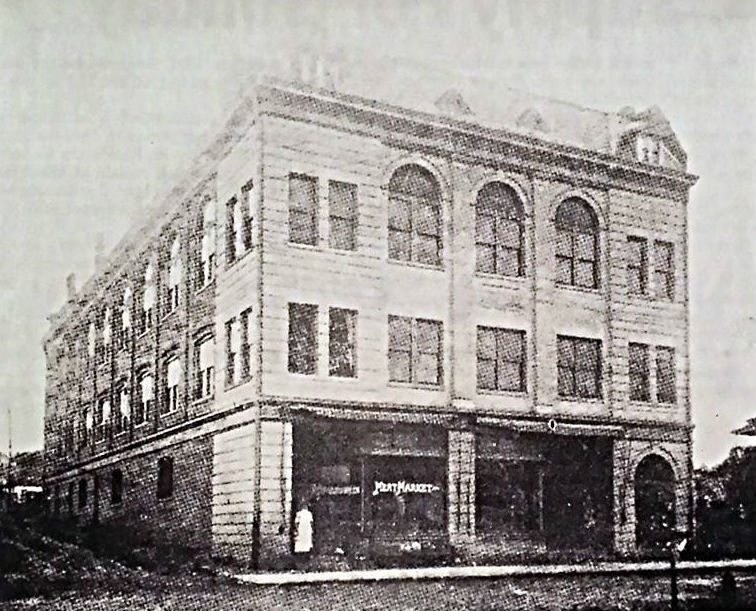 Newspaper image of RU27's building circa early 1900's courtesy of the Harrisonburg-Rockingham Historical Society.