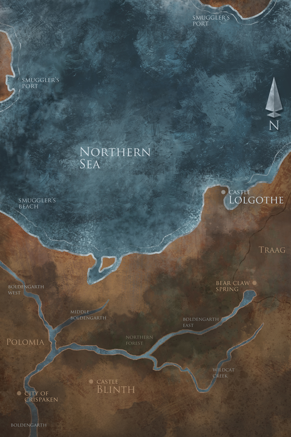 Book II - Map of the Northern Shores
