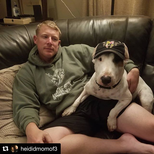 #Repost @heididmomof3 with @get_repost ・・・ @themachinegunnest Even Frank likes to sport his TMGN gear!  #reptmgn