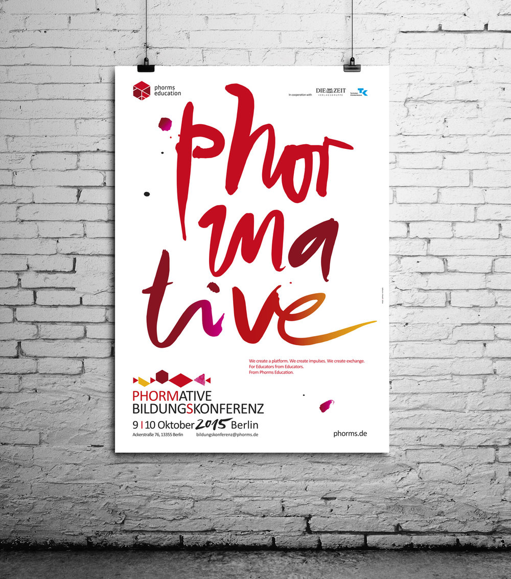 poster design for Phorms Education SE