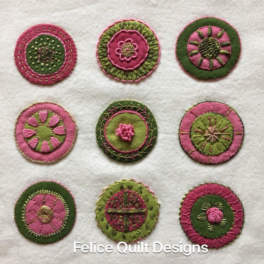 Felice Quilt Designs Circle Sampler