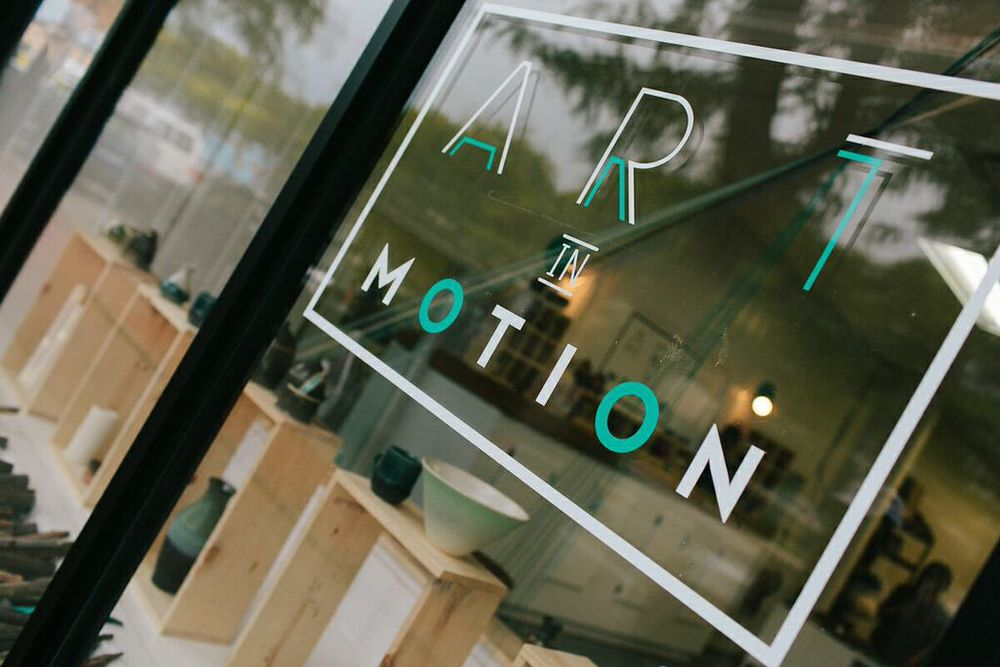 Art in Motion built a ceramics studio that offers classes, private studios, and a gallery to showcase students' works.