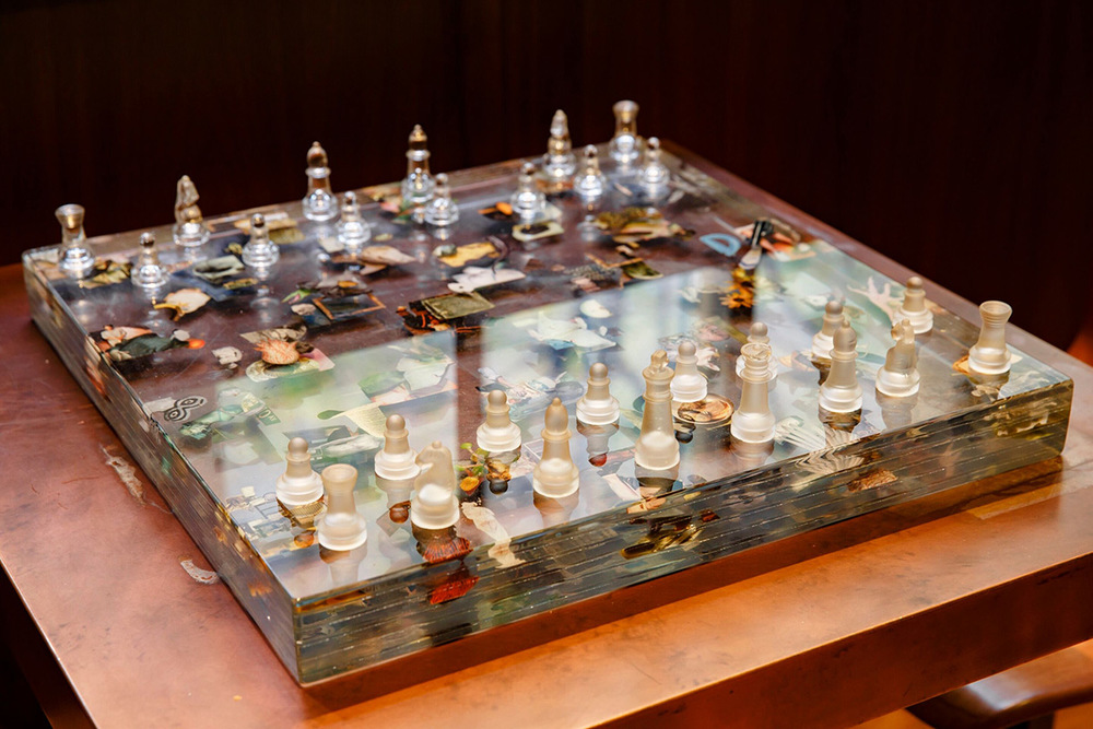 Chessboard by Dustin Yellin