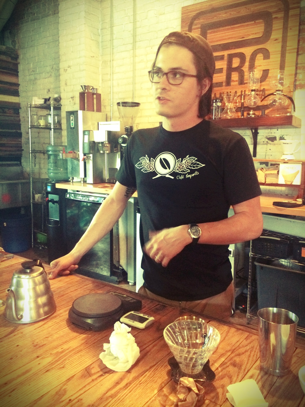3.  This is Spencer, that quality dude I mentioned.  Super cool guy, and makes a schmokin mean cup a' joe.