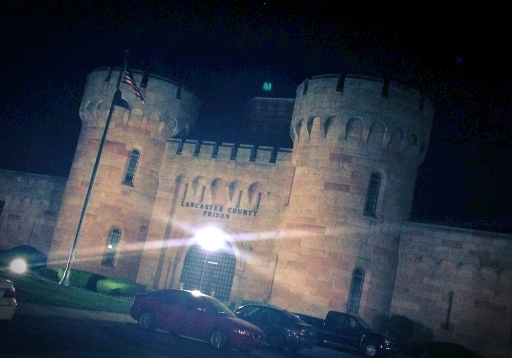 After our visit to the Philly location we headed on out to Lancaster.  It was too late in the day to visit the shop so we found a place to park the RV for the evening next to this really cool castle.  The really cool castle turned out to be the county prison.  OK, so it's a really cool castle full of criminals.  Still pretty...but back to coffee.