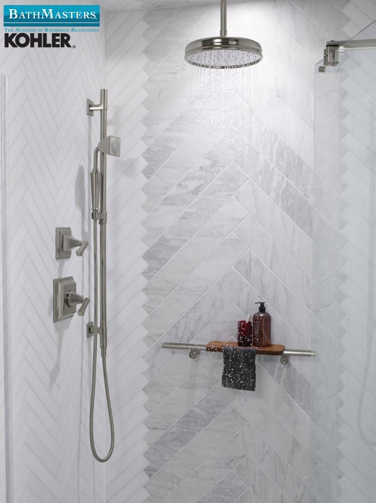 kohler marble grey shower