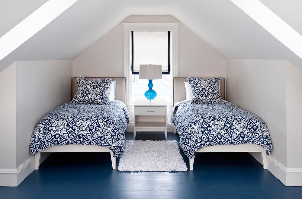 Mandarina Studio :: Boston interior design contemporary bold color bedroom