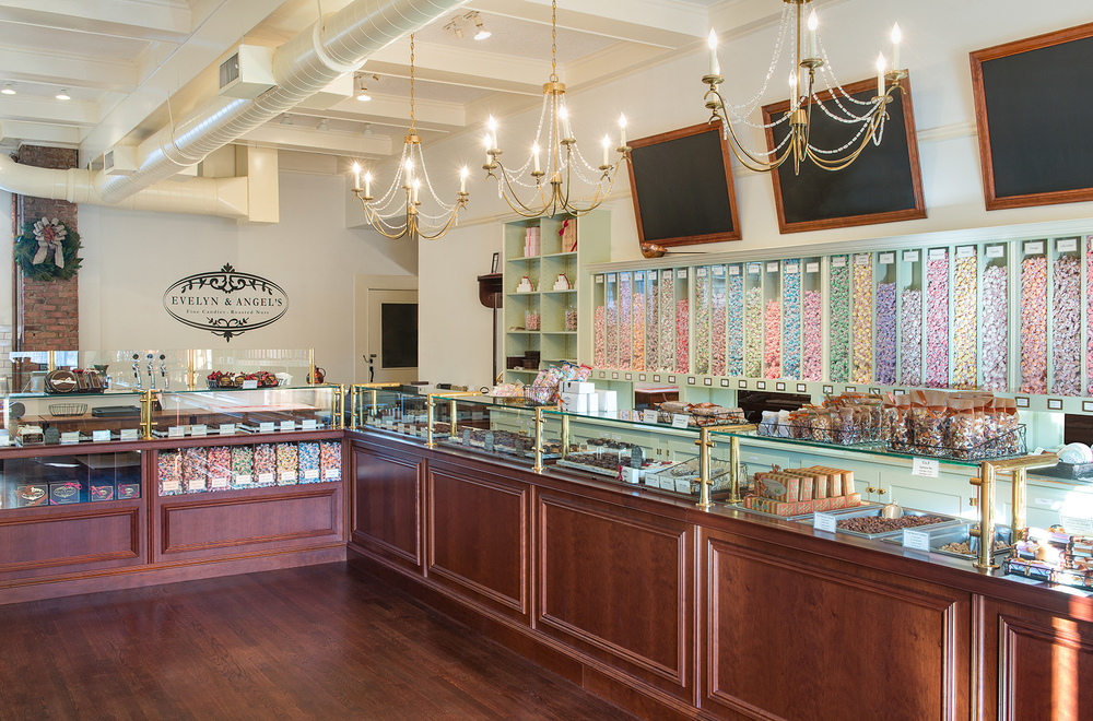 Mandarina Studio :: Evelyn&Angels Boston Chocolate Company store design