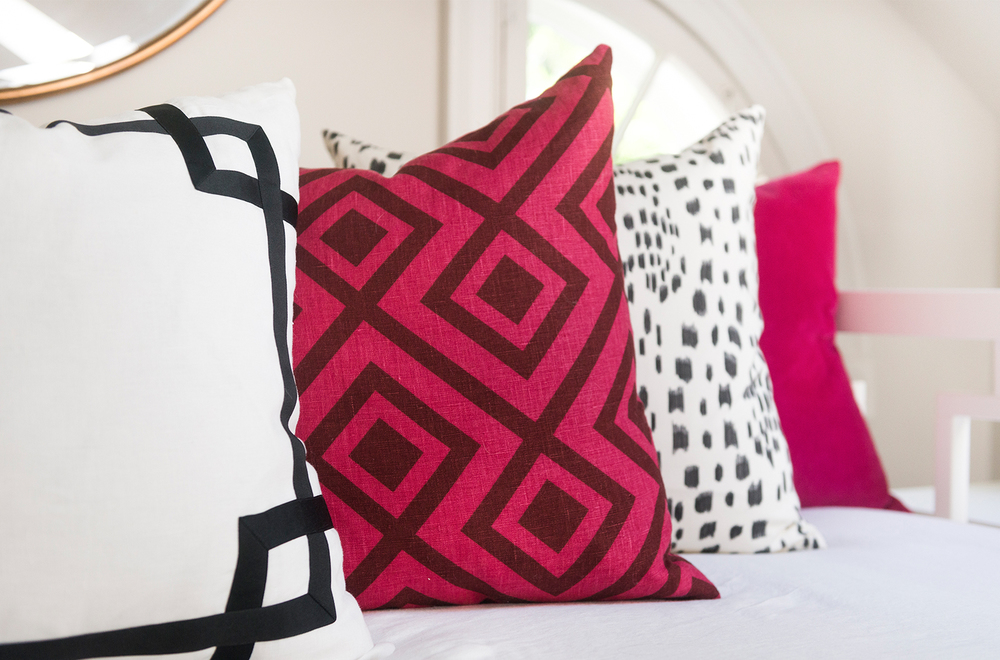 Mandarina Studio :: Boston interior design contemporary bold color pillows