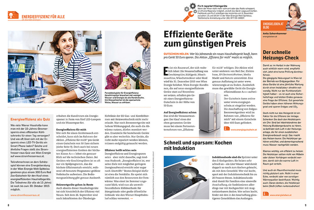 24h Energie customer magazine by Wien Energie