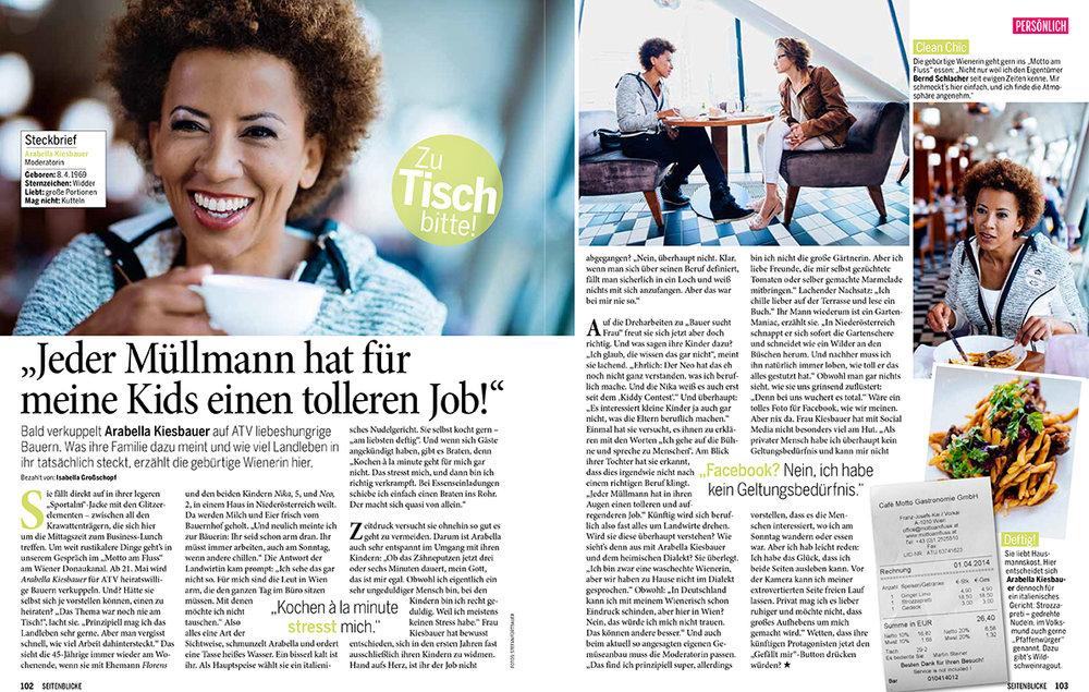 Arabella Kiesbauer for Seitenblicke Magazin