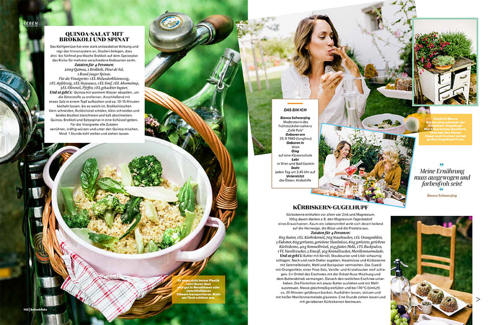 Food & dining editorial for Seitenblicke Magazin