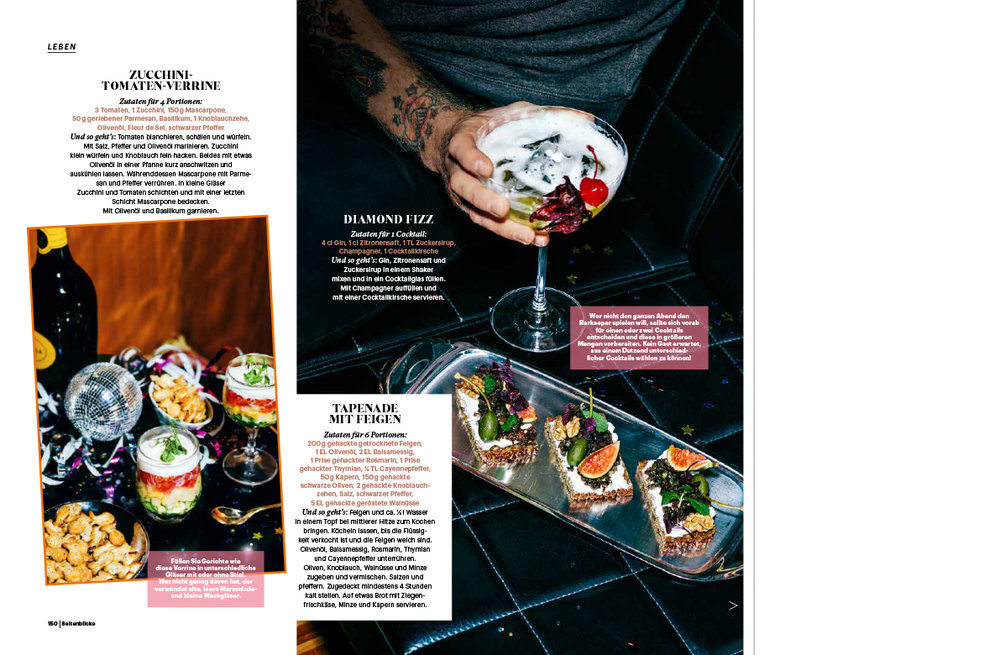 Food editorial for Seitenblicke Magazin