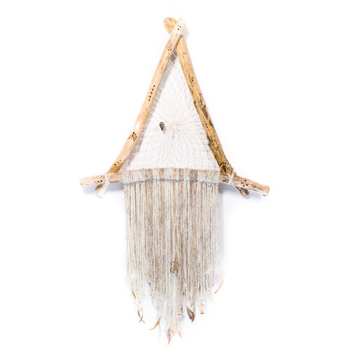 Xtra Large All White Driftwood Wall Hanging — Refraction
