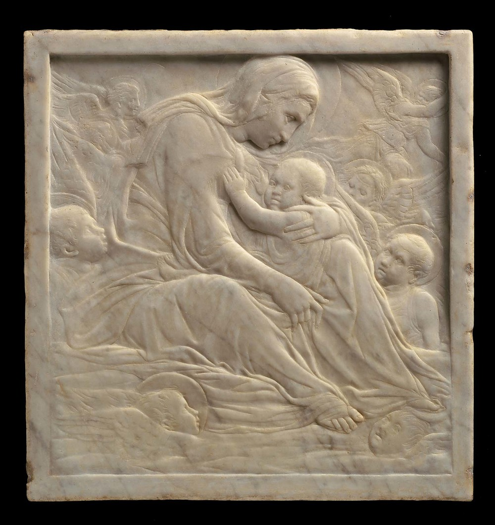 """Madonna of the Clouds"" marble relief, 1425-1435. Another example of rilievo schiacciato."