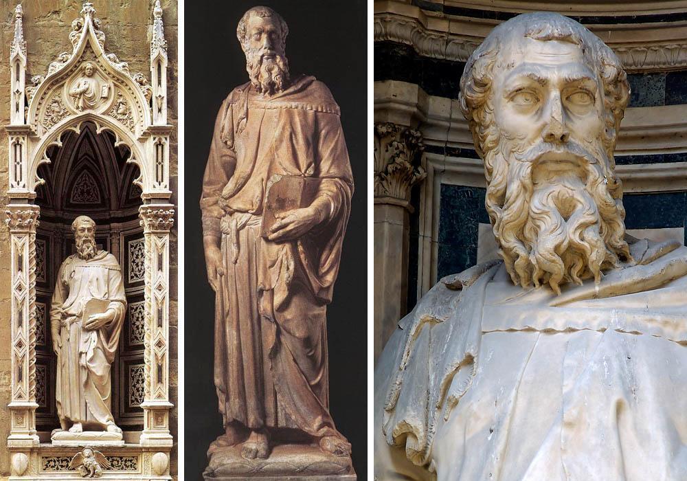 """""""St Mark"""" marble, 1411-13."""
