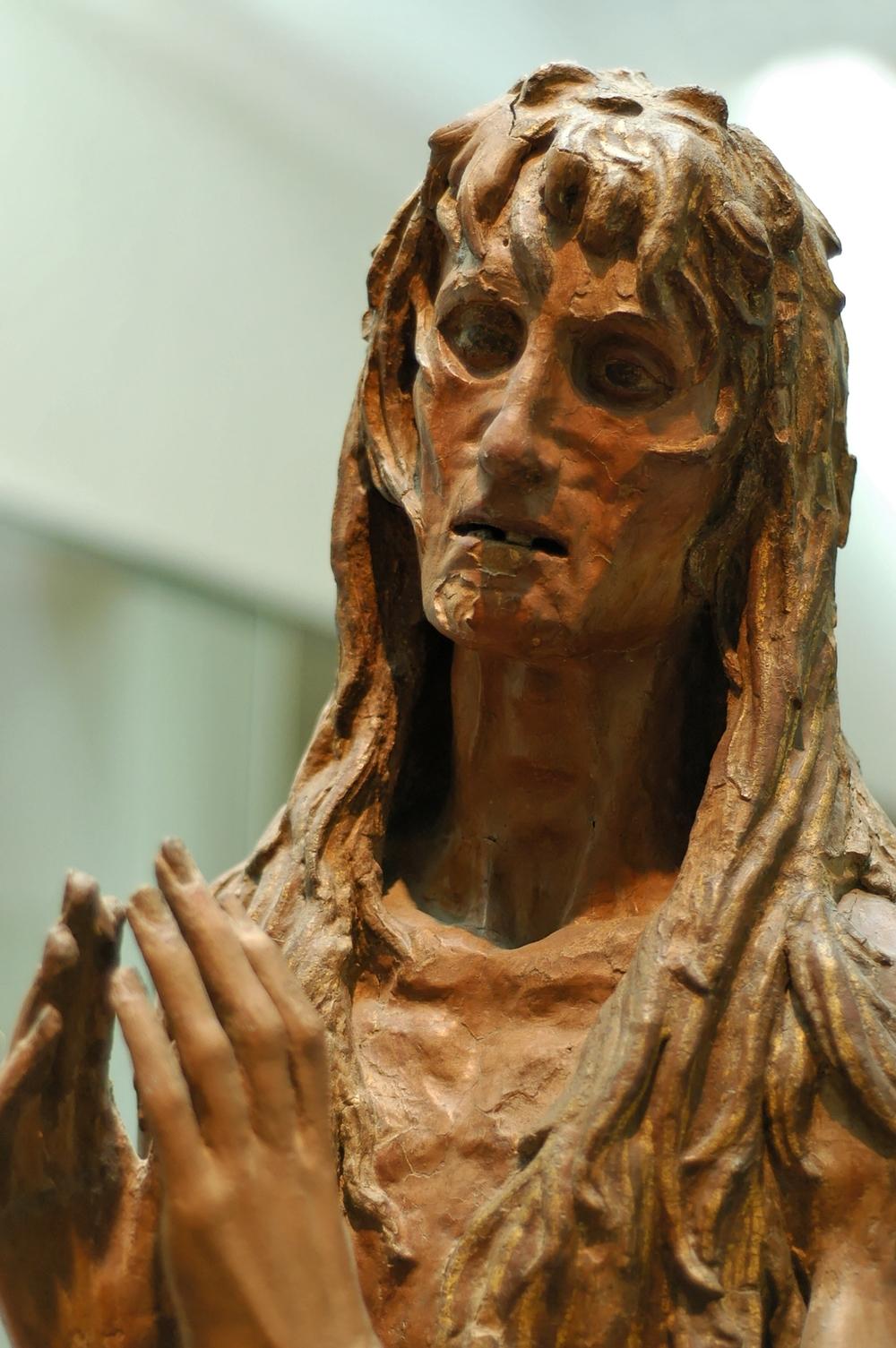 """""""Penitent Magdalene"""" poplar wood, 1453-55."""