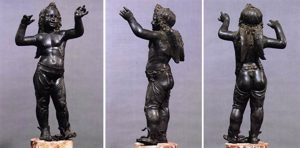 """Boy Faun Treading on a Snake"" bronze."