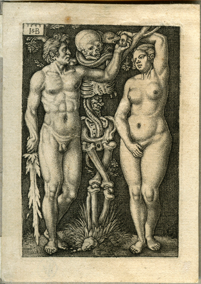 An engraving of Adam and Eve by Sebald Beham.jpg
