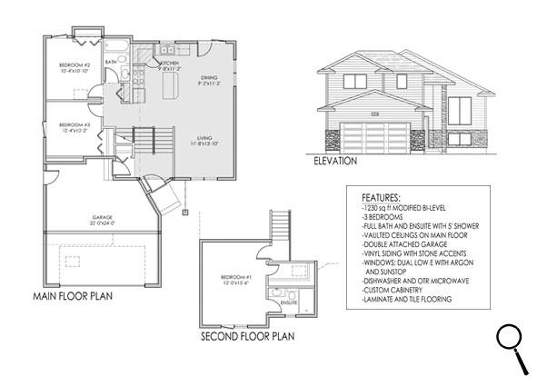 1230 Modified Bi Level Design 2 Fraser Custom Homes