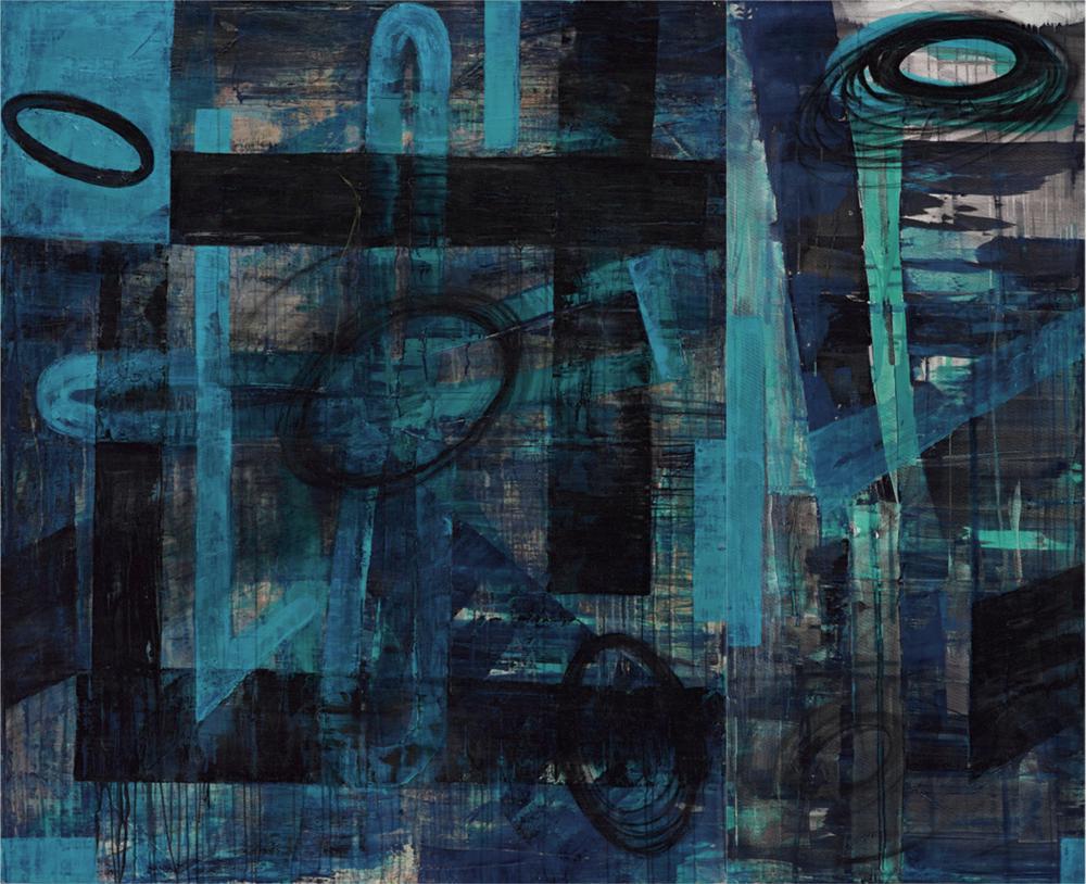 〈定碼〉, 2004, 壓克力顏料、畫布, 173×215CM (Diptych)