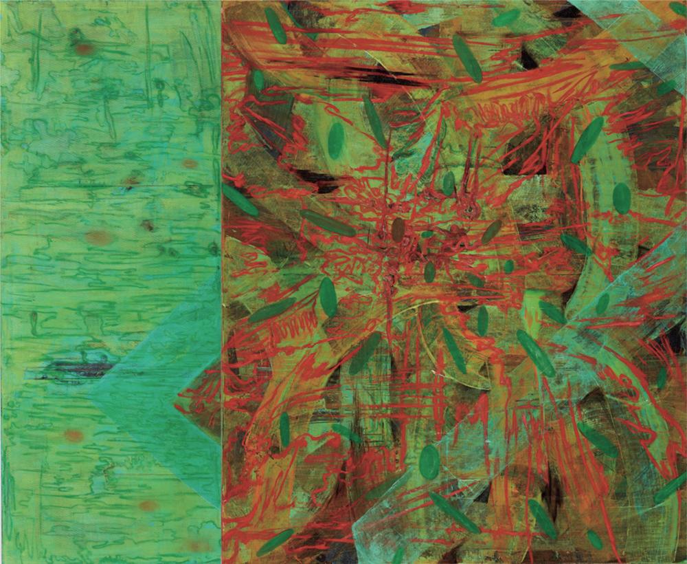〈脈絡符碼〉, 2004, 壓克力顏料、畫布, 173×215CM (Diptych)