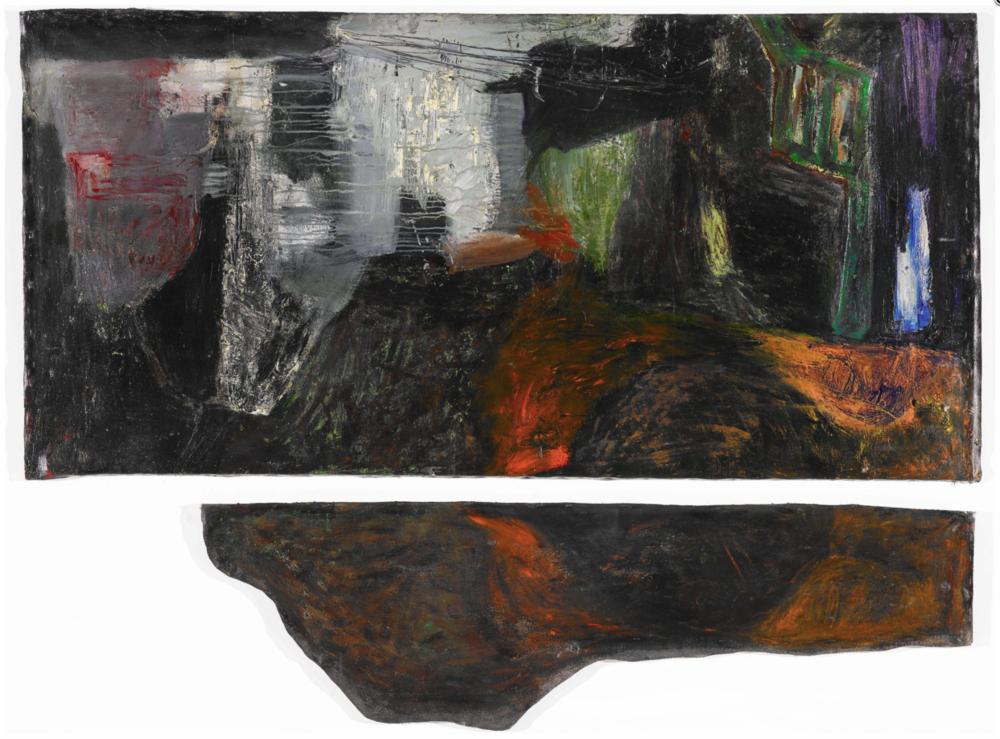 〈無題〉, 1987, 壓克力顏料、畫布, 157×216cm