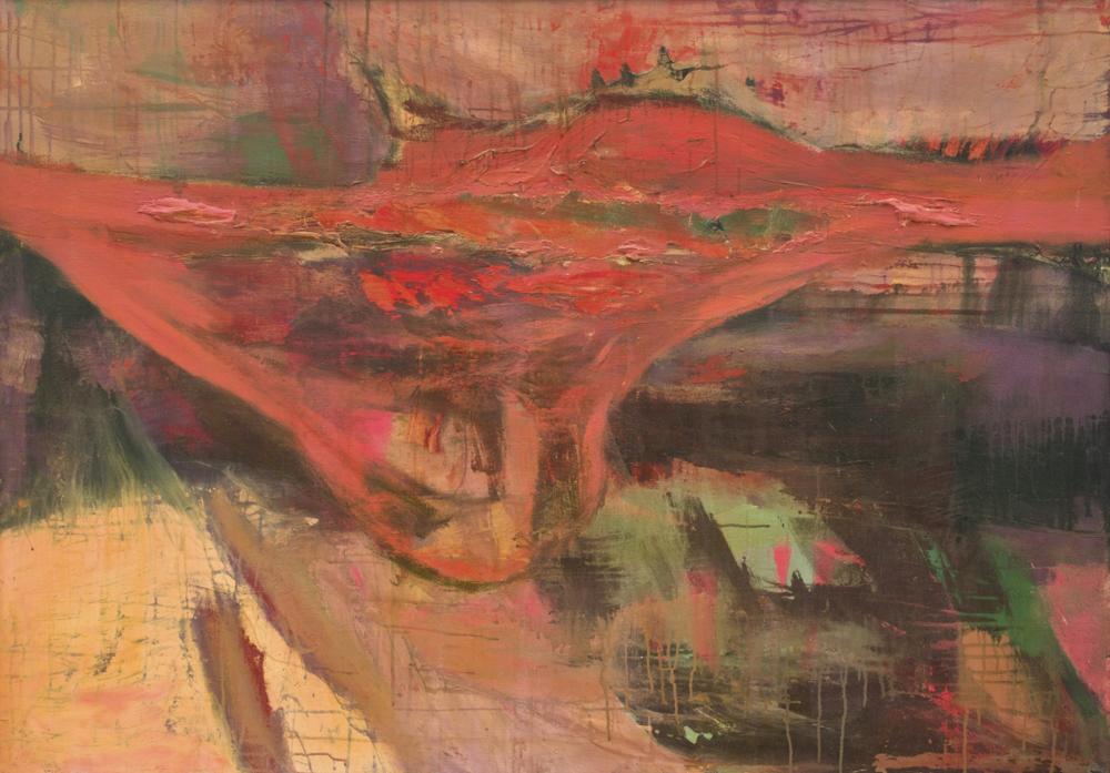 〈無題〉, 1988, 壓克力顏料、畫布, 107×152cm