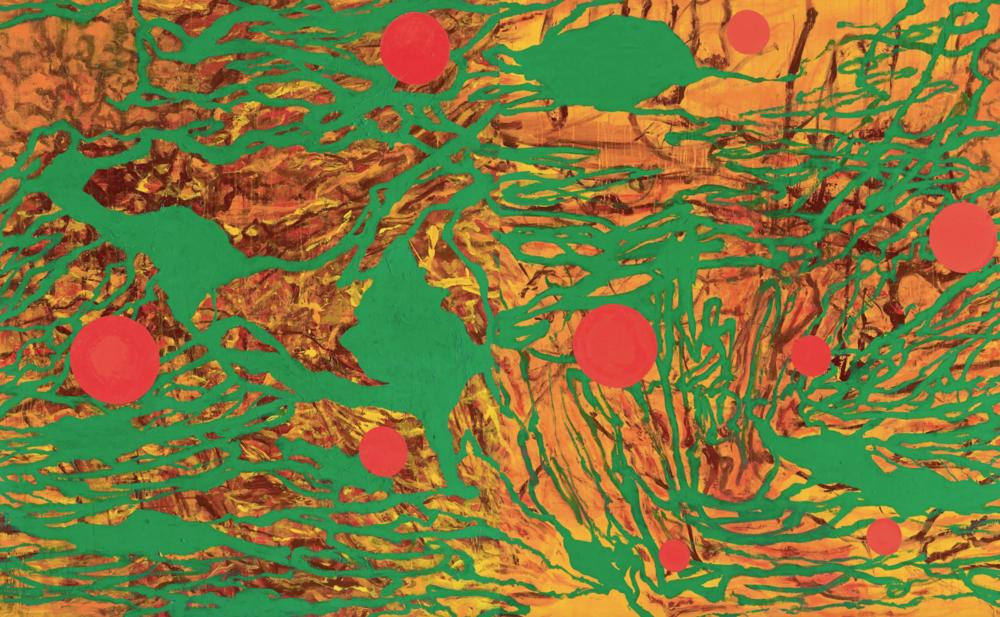 〈流動現實〉, 2011, 壓克力顏料、畫布, 215×346CM
