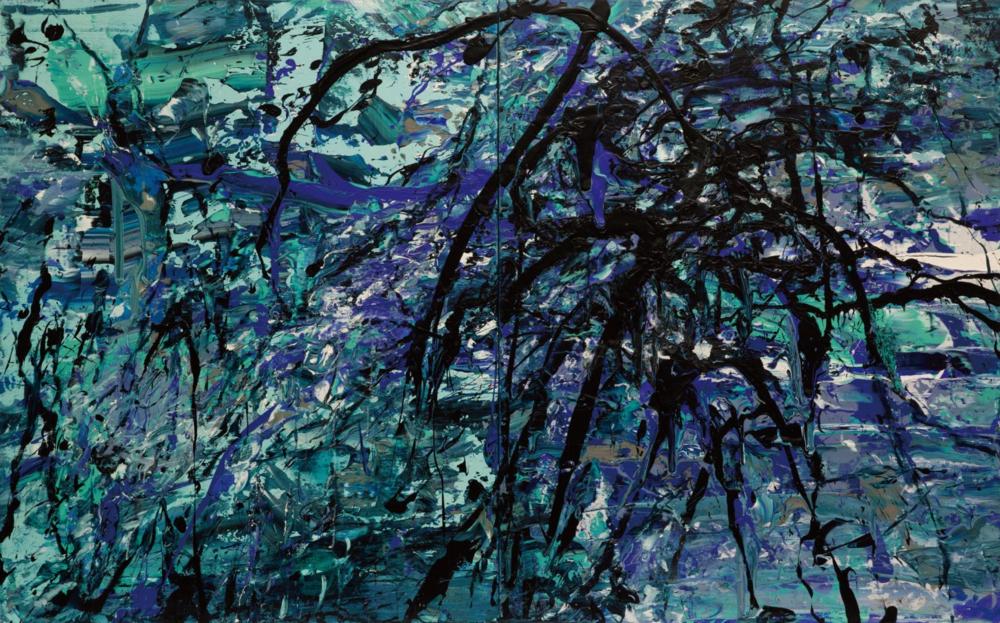 〈時延之域〉, 2013, 壓克力顏料、畫布, 162×260CM
