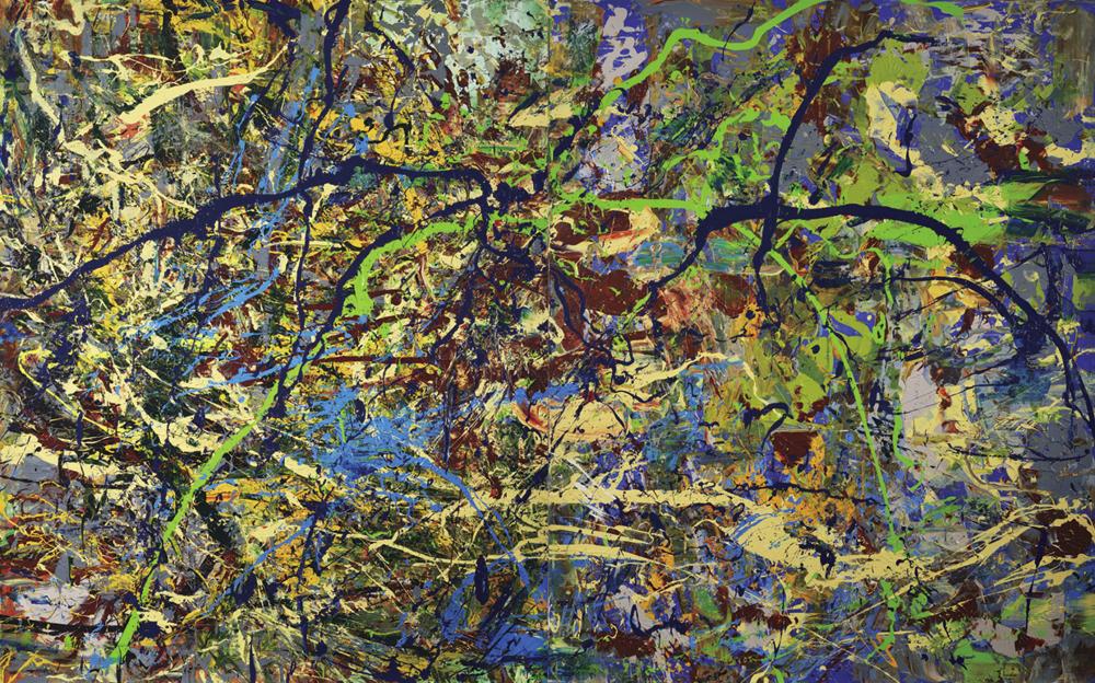 〈經緯測量〉, 2014, 壓克力顏料、畫布, 215×346CM