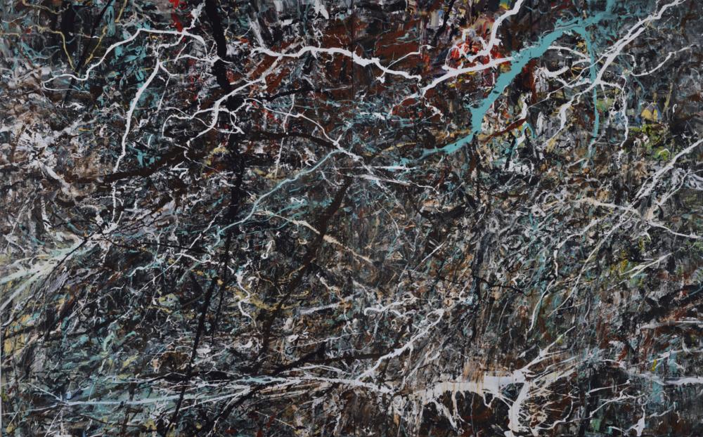 〈臨在〉, 2016, 壓克力顏料、畫布, 215×346CM
