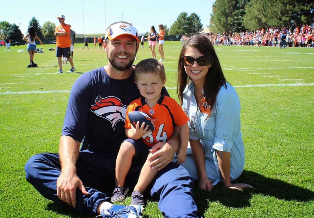 The Tammes at Bronco Training Camp