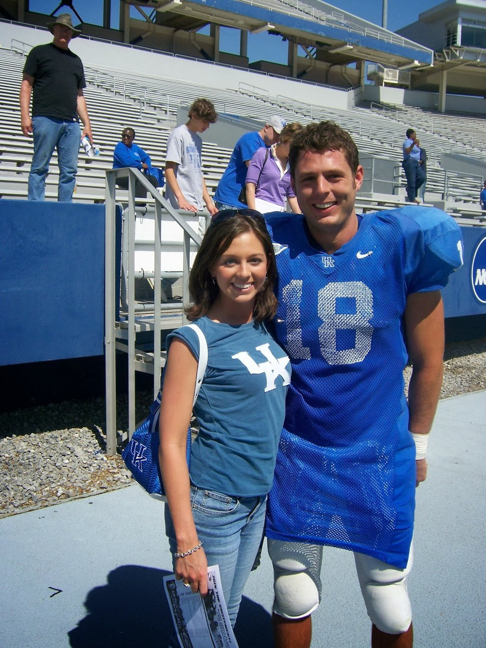 Allison and Jacob after the 2007 Blue-White Game
