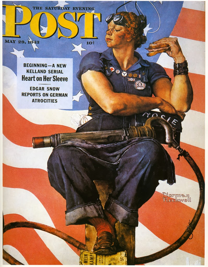 Norman Rockwell's allegorical take on Rosie.