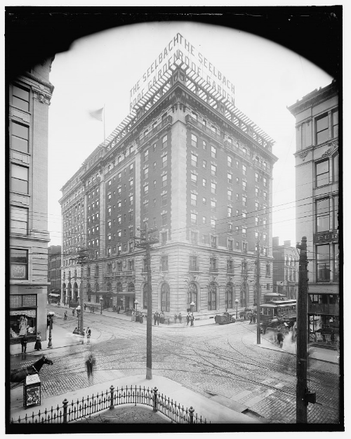 Seelbach Hotel, circa 1910, Library of Congress holdings of the Detroit Publishing Company Photo Collection .