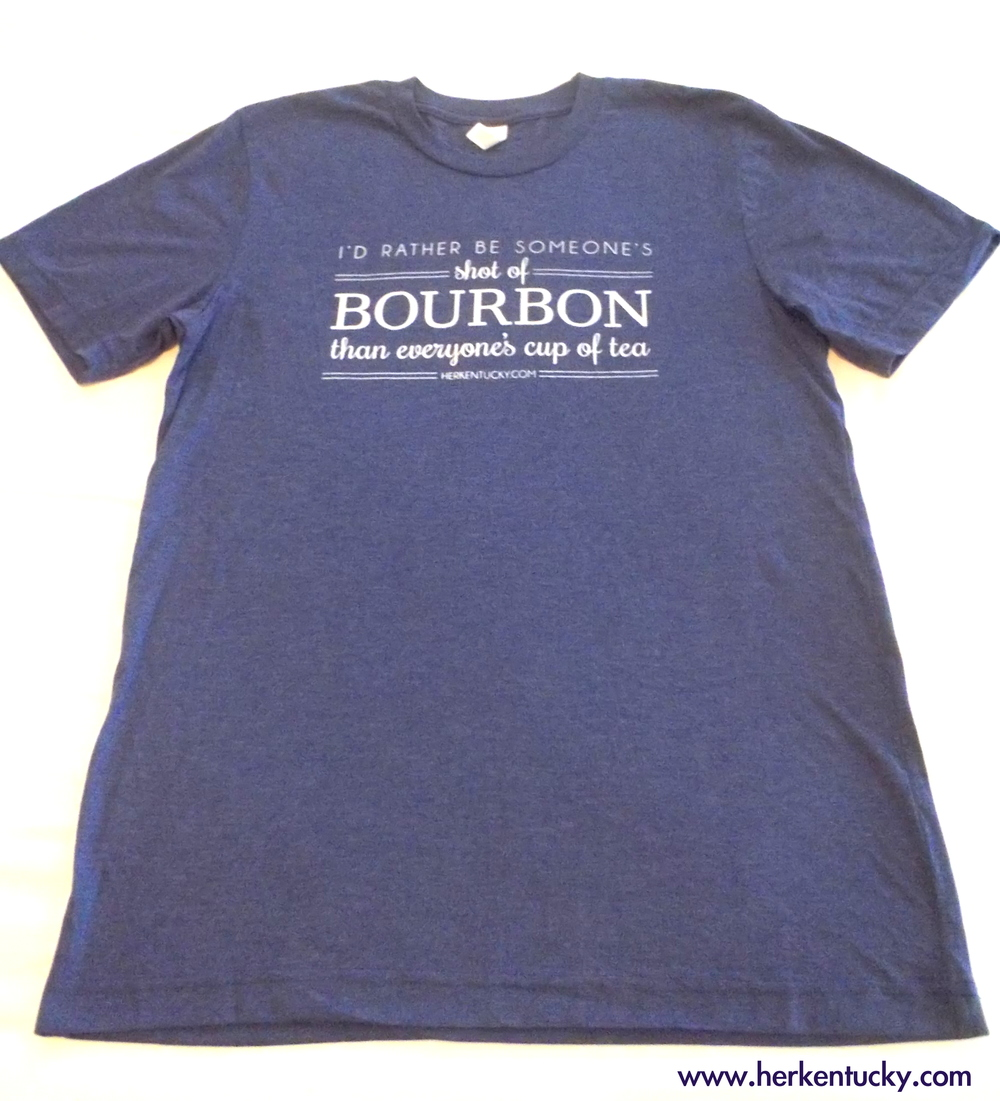 Visit the HerKentucky Store for our exclusive Shot of Bourbon Tees!