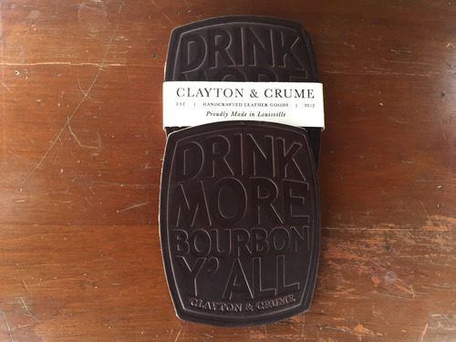 Clayton & Crume Drink More Bourbon coasters