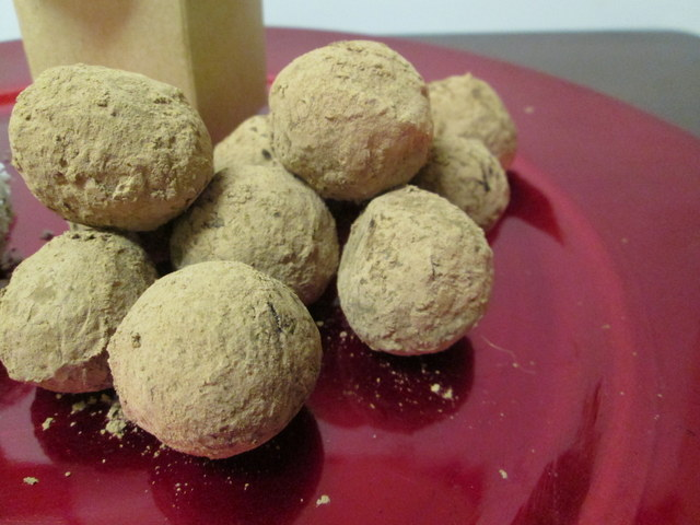 traditionally truffles are covered with cocoa powder