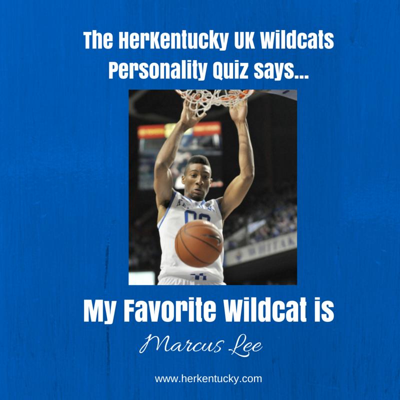 My favorite UK Wildcat is Marcus Lee! HerKentucky.com