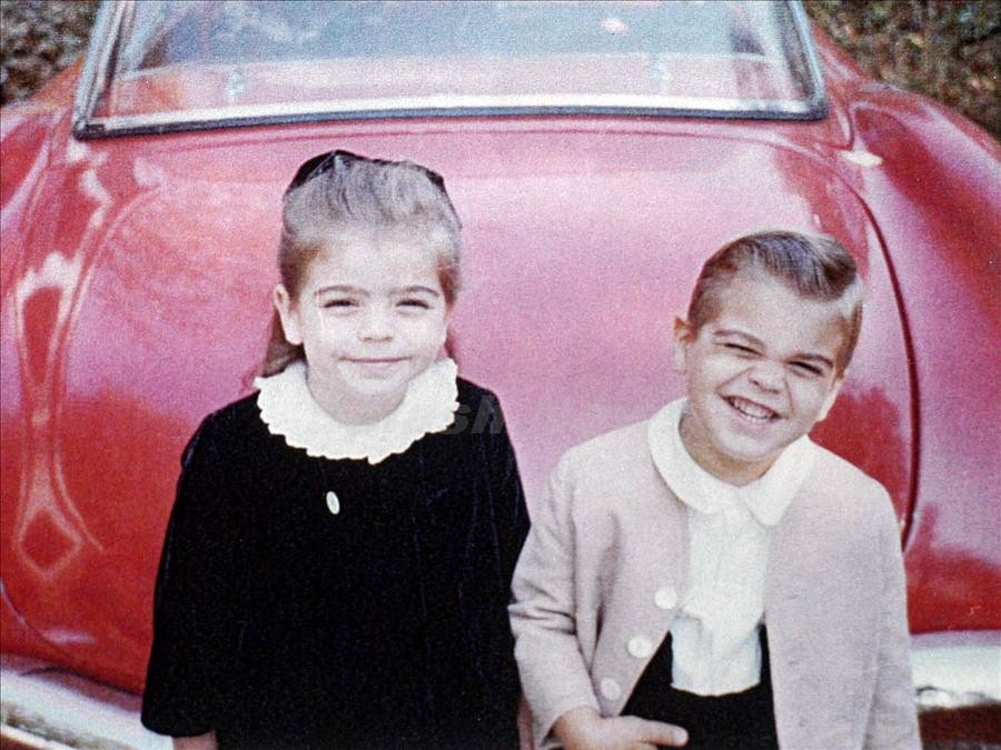 Young George with his older sister, Ada.