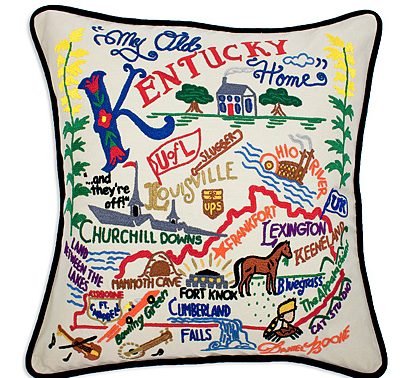 UncommonGoods Kentucky pillow