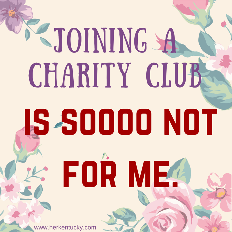 Joining a Charity Club | HerKentucky.com
