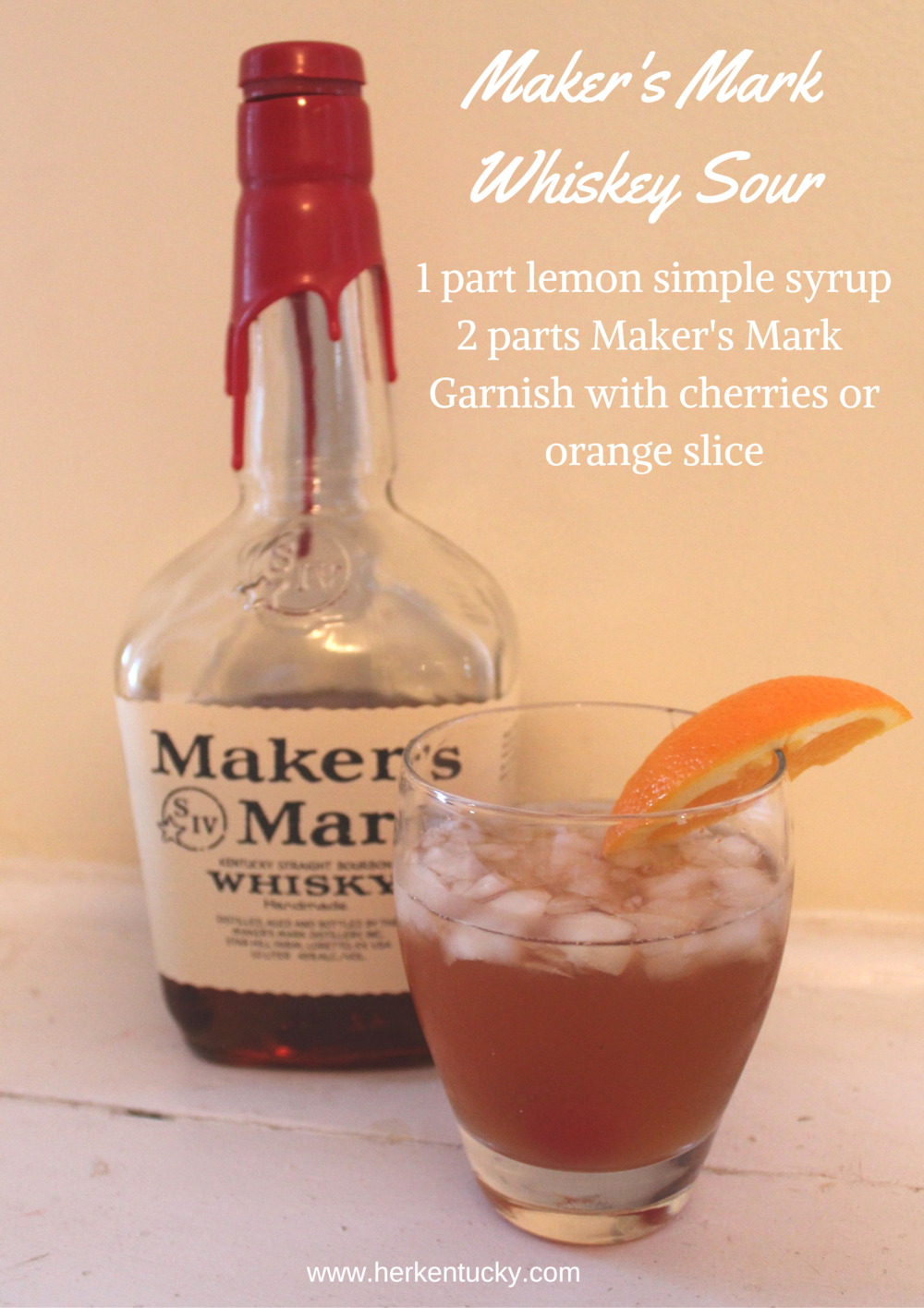 Maker's Mark Whiskey Sour