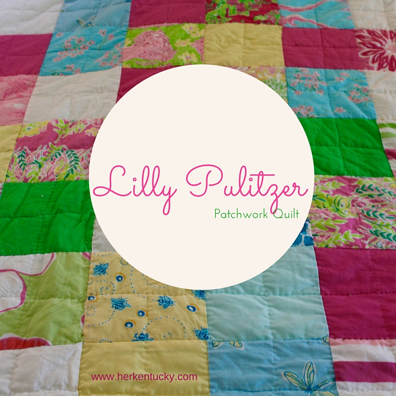 Lilly Pulitzer Patchwork Quilt